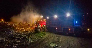 Požar odpadkov na deponiji RCERO Ljubljana 1.5.2020