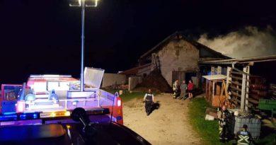 Požar hleva v naselju Češnjica, 19.6.2020