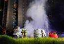 Požar avtomobilov na Rusjanovem trgu 4.5.2021